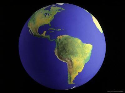 Globe, View of South America by Matthew Borkoski