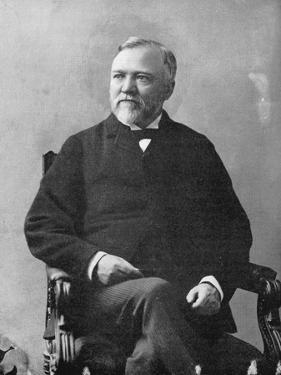 Andrew Carnegie (1835-191), Scottish-American Industrialist and Philanthropist, 1870S by Matthew Brady