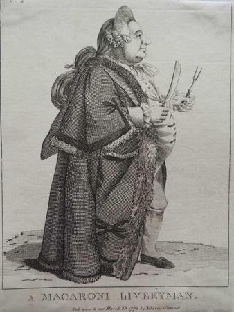 A Macaroni Liveryman, 1772