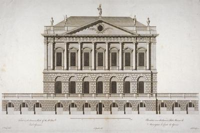 Elevation of Buckingham House, St James's Park, Westminster, London, C1770