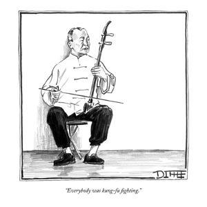 """Everybody was kung-fu fighting."" - New Yorker Cartoon by Matthew Diffee"