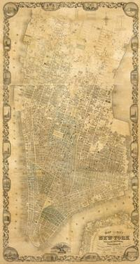 City of New York Extending Northward to 50th St., c.1852 by Matthew Dripps