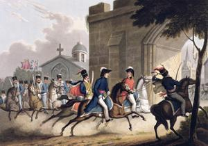 Entrance of Lord Wellington into Salamanca, May 20th 1813' 1815 by Matthew Dubourg