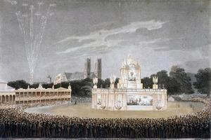 Firework Display in Green Park, Westminster, London, 1814 by Matthew Dubourg