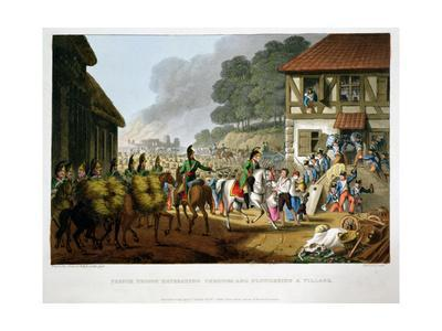 'French Troops Retreating Through and Plundering a Village', 1816