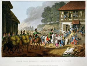 'French Troops Retreating Through and Plundering a Village', 1816 by Matthew Dubourg