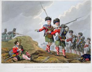 Highland troops at the Battle of Vimeiro, Peninsular War, 1808 (1816) by Matthew Dubourg