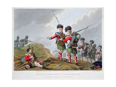 Highland troops at the Battle of Vimeiro, Peninsular War, 1808 (1816)