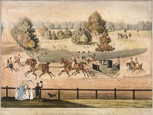 King George IV Riding Through Hyde Park, London, 1831 by Matthew Dubourg