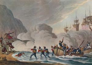 'Landing Troops in the Face of the Enemy', c1820 (1909) by Matthew Dubourg