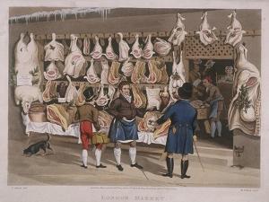 London Market, a Butchers Shop, 1822 by Matthew Dubourg