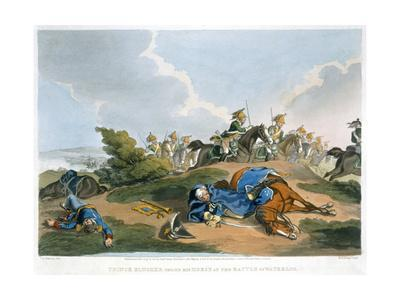 'Prince Blucher under his Horse at the Battle of Waterloo', 1815