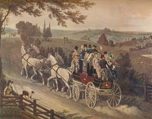 'Stage Coach', 1822 by Matthew Dubourg