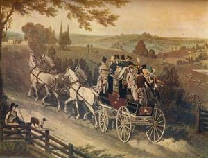 'Stage Coach', c19th century by Matthew Dubourg