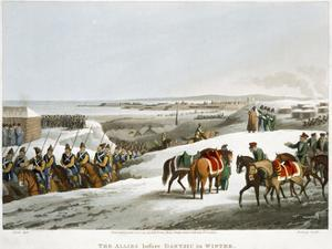 'The Allies before Dantzic in Winter', 1818 by Matthew Dubourg