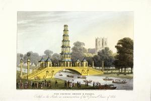 The Chinese Bridge and Pagoda, Erected in St James's Park, London, 1814 by Matthew Dubourg