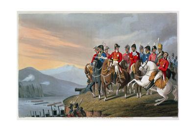 'The Duke of Wellington and his Staff Crossing the Bidassoa and Entering France', 1813 (1816)