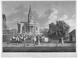 View of St Paul's Church, Deptford, London, 1822 by Matthew Dubourg