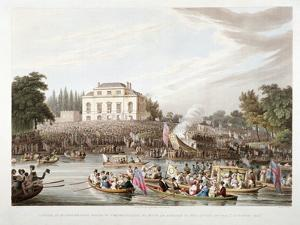 View of the River Thames at Brandenburgh House, Hammersmith, London, 1821 by Matthew Dubourg