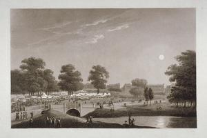 View of the Serpentine and Hyde Park, London, 1814 by Matthew Dubourg