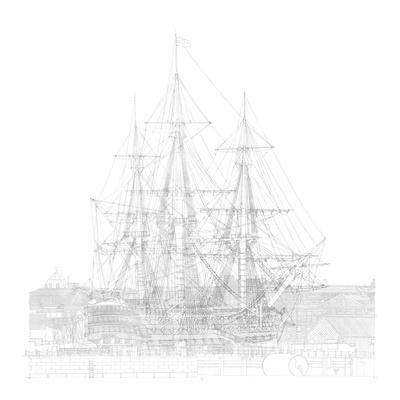 Study of Hms Victory in Number Two Dry Dock, Portsmouth, 2012
