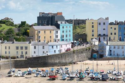 Colourful Houses at Tenby Harbour in West Wales by Matthew Horwood