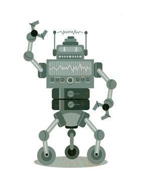 Robot on White by Matthew Laznicka