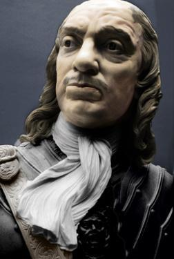 Bust of Lord Protector Oliver Cromwell, 1860 by Matthew Noble