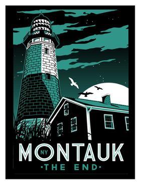 Montauk Lighthouse at Night by Matthew Schnepf