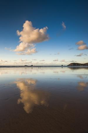 Trevose Head and Constantine Bay at Sunset, Cornwall, England, United Kingdom, Europe by Matthew