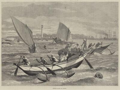 Ceylon Boats at Galle