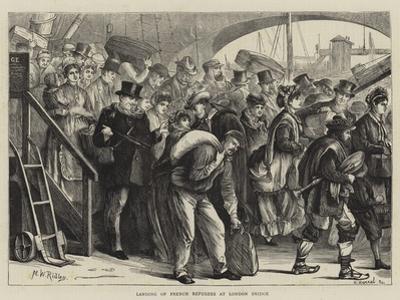 Landing of French Refugees at London Bridge