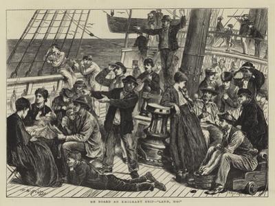 On Board an Emigrant Ship, Land, Ho!