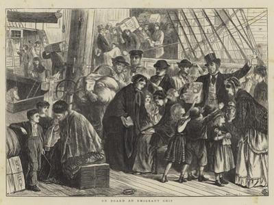 On Board an Emigrant Ship