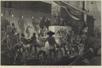 Our Special Artist's Voyage to China, Chinese Coolies Coaling the Steamer at Hong-Kong