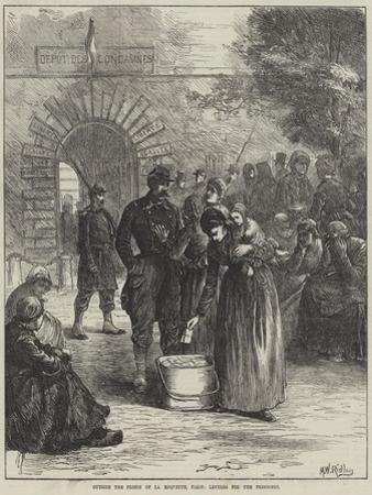 Outside the Prison of La Roquette, Paris, Letters for the Prisoners