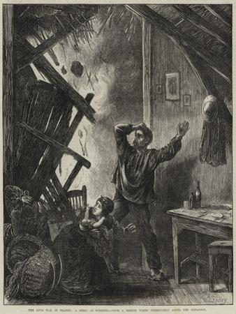 The Civil War in France, a Shell at Suresnes