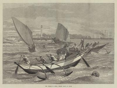 The Voyage to China, Ceylon Boats at Galle