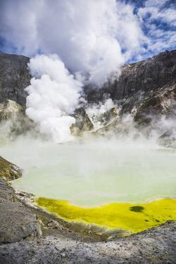 Acid Crater Lake, White Island Volcano, an Active Volcano in the Bay of Plenty by Matthew Williams-Ellis