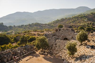 Amphitheatre at the ancient ruins of Kaunos, Dalyan, Anatolia, Turkey Minor, Eurasia by Matthew Williams-Ellis