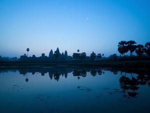 Angkor Wat Temple and Moon, Angkor Temples, UNESCO World Heritage Site, Siem Reap, Cambodia by Matthew Williams-Ellis
