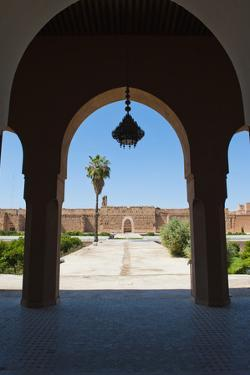 Arch at El Badi Palace, Marrakech, Morocco, North Africa, Africa by Matthew Williams-Ellis