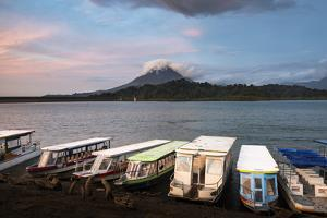 Arenal Volcano and Arenal Lake at sunset, near La Fortuna, Alajuela Province, Costa Rica by Matthew Williams-Ellis