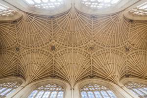 Bath Abbey Ceiling, Bath, Avon and Somerset, England, United Kingdom, Europe by Matthew Williams-Ellis