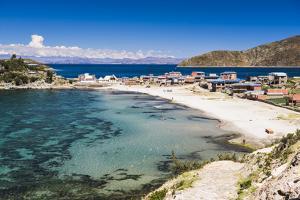 Beach at Challapampa Village, Isla Del Sol (Island of the Sun), Lake Titicaca, Bolivia by Matthew Williams-Ellis
