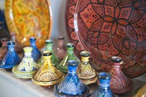 Ceramics for Sale, Essaouira, Formerly Mogador, Morocco, North Africa, Africa by Matthew Williams-Ellis