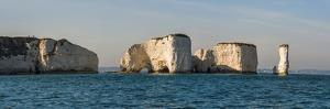 Chalk Stacks and Cliffs at Old Harry Rocks, Between Swanage and Purbeck, Dorset by Matthew Williams-Ellis