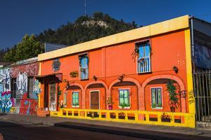 Colourful Buildings in Barrio Bellavista (Bellavista Neighborhood), Santiago Province, Chile by Matthew Williams-Ellis
