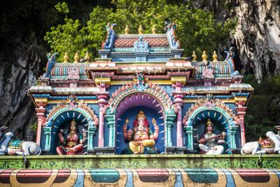 Colourful Hindu statues, Batu Caves, Kuala Lumpur, Malaysia, Southeast Asia, Asia by Matthew Williams-Ellis
