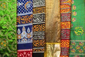 Colourful pashmina scarves, New Delhi, India, Asia by Matthew Williams-Ellis